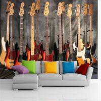 Wholesale kid bass resale online - custom size d photo wallpaper mural living room bed room kids room Jazz Bass music d picture sofa TV backdrop wallpaper wall sticker