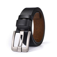 wide belts men 2021 - Designer Belts For Men High Quality Cow Genuine Leather Man Male Pin Buckle Strap Ceinture Homme
