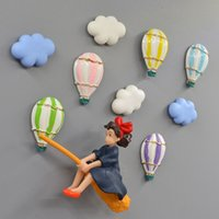 Wholesale flower services for sale - Group buy Cartoon Anime Kiki s Delivery Service Fridge Magnet Hot Air Cloud Flower Balloon Refrigerator Message Sticker Home Decoration