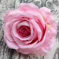 Wholesale pink flower cake topper for sale - Group buy 20 Large Flower Heads cm Artificial Flowers Wedding Flowers Silk Roses for Prom Party Decor Wedding Cake Toppers