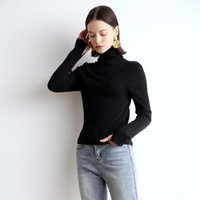 Wholesale wool pin for sale - Group buy RuFH1 Seamless molding Warm lazy warm slim and autumn pin woolwool winter high collar superfine knitted wool base shirt Women s merce