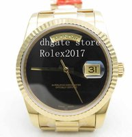 ingrosso yg-BP Factory Mens Top Quality Automatico Data giorno 36mm FLT Pres YG / YG All Black BPF Asia 2836 2813 Sport All Black Dial 18k