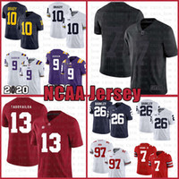 football jerseys venda por atacado-Ícone 2,0 Fiel a 7 Colin Kaepernick 13 Tua Tagovailoa Football Jersey All Black I Am com Kap Alabama Crimson Tide 10 Tom Brady 9 Joe Burrow