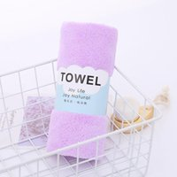 Wholesale hair colours for sale - Group buy Pure Colour Face Towel Coral Fleece Children s Water Uptake Soft Towels Outdoor Travel Portable Hand Towel Home Textiles CM EWE2