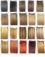 Wholesale zzhair resale online - ZZHAIR quot quot Brazilian Remy Human hair Halo Hair Flips in on Human Hair Extension set Non Clips g g