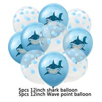 Wholesale baby boy shark for sale - Group buy Amawill Shark Theme Party Supplies Latex Balloons Under The Sea Party Baby Shower Boys Happy Birthday Party Decorations d wmtsZx