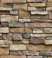 Rock Wallpaper Stone Peel and Stick Self-Adhesive & Removable 3D Paper for Backsplash Countertop Wall Easy to Clean Realistic Textured 17.7*39.3