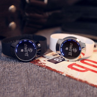Wholesale electronics piece resale online - Top Luxury Blue LED Luminous Touch Screen Watch Men Smart Electronics Digital Rubber Band One Piece TFBoys Clocks Gifts Ulzzang