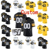 Discount iowa hawkeyes jerseys Custom Iowa Hawkeyes College Football Jersey 4 Nate Stanley 43 Josey Jewell 46 George Kittle 5 Oliver Martin Men Women Youth Stitched