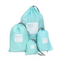 Wholesale string bag owl for sale - Group buy Four Sets Backpack Women Animal Owl Printing Backpack Canvas Bookbags School Backpacks Bags for Teenage girls Bagpack Backbag