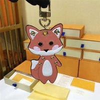Wholesale electronic fox for sale - Group buy 20SS Brand Womens Mens Keychains Luxury Letters Bag Car Keychain Circle Keyring Cute Fox Key Chain Girlfriend Gifts With Box