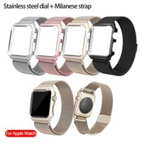Wholesale apple watch milanese for sale - Group buy For apple watch band mm mm Stainless steel bezel Milanese magnetic strap for Apple Watch