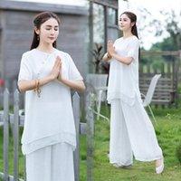 Wholesale yoga tai chi for sale - Group buy M6Sqp New cotton linen Zen and yoga tea linen cotton Tai Chi suit meditation suit qdrsi