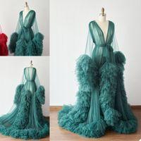 Wholesale make lingerie for sale - Group buy Bathrobe for Women Custom Made Soft Lace Tulle Full Length Lingerie Nightgown Pajamas Sleepwear Women s Luxury Gowns Housecoat Nightwear