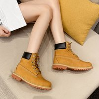 Wholesale waterproof snow boots for sale - Group buy Martin boots snow boots genuine leather leather leather waterproof work boots British men s and women s shoes kick bad outdoor high top big