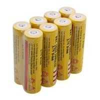 Wholesale Yellow UltraFire High Capacity mAh V Li ion Rechargeable Battery For LED Flashlight Digital Camera Lithium Batteries Charger
