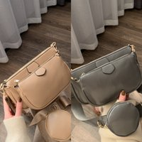 Wholesale soft q for sale - Group buy 5Ijhu Fashion new personalized creative s women s korean style trendy wide three piece bag shoulder strap messenger shoulder small bag Q