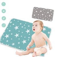 Wholesale hottest baby play mat for sale - Group buy Baby Changing Mat Portable Cotton Diaper Changing Pad Washable Waterproof Baby Changer Travel Infant Urinal Bed Pad Play Mat Hot C1008