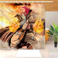 High Quality Anime Fairy Tail 3D Printed Shower Curtains Bath Products Bathroom Decor with Hooks Waterproof 05