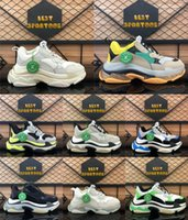 Wholesale clay s for sale - Group buy Fashion Paris FW Triple S Clear Sole Mens Women Casual Shoes Triple S Designer Sneakers Black White Green Rainbow Sports Old Dad Shoe
