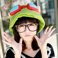 Wholesale game hats for sale - Group buy Hot game hats League of Legends cosplay cap Hat Teemo hat Plush Cotton LOL plush toys Hats
