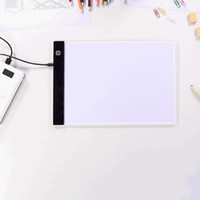 Wholesale electronics baby resale online - Electronic Painting Drawing Board A5 Dimmable LED Digital Tablets Drawing Copy Pad Board Educational Toys Creativity Baby Toys VT1728
