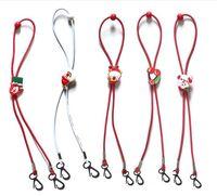 Wholesale santa rope resale online - Free DHL UPS Christmas children s mask with hanging rope cartoon extension rope adjustable Santa mask neck rope