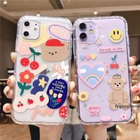 Wholesale cute bear iphone case for sale – best Cartoon Bear Phone Case For iphone Pro X XS Max XR Soft TPU Back Cover For iphone plus plus Cute Lovely Clear Case