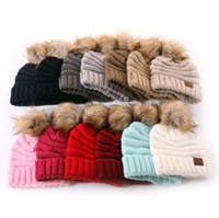 Wholesale beanie hats for toddlers resale online - Warm Baby Kid Toddler Winter Cap Hat CC Beanie Kids Hats Wool Knit Outdoor Sports Caps for Children Fashion Christmas Gift Lovely