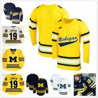 Wholesale Custom Michigan Wolverines Colleage Hockey Jerseys Any Name Number Yellow LARKIN Zach Werenski WILL LOCKWOOD JOSEPH CECCONI