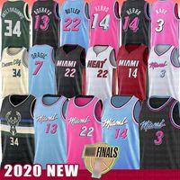 Wholesale polyester jerseys for sale - Group buy Jimmy Tyler Butler Herro Miami Heat Dwayne Dwyane Bam Wade Basketball Jersey Adebayo Goran Robinson Giannis Dragic Antetokounmpo