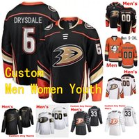 Wholesale ducks hockey jerseys resale online - 2020 Anaheim Ducks Hockey Jerseys Jamie Drysdale Jacob Perreault Chase De Leo Andy Welinski Black White Orange Custom Stitched