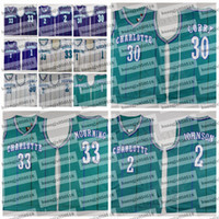 Wholesale charlotte gold for sale - Group buy Tyrone Muggsy Bogues Larry Johnson Grandma ma Dell Curry Alonzo Mourning Charlotte Hornets Hardwoods Classic basketball jersey