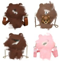 Wholesale i phone mobiles resale online - Cute bear mobile women s new cartoon silicone shoulder mobile messenger Douyin Net red envelope bag phone bagSilicone phone bag ivCKZ i