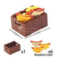 Wholesale apple chicken resale online - Food Set Fruit Apple Banana Cherry Frish Chicken Hotdog Bread Lobster Diy Building Blocks Moc Educational Toys For Children Gift bbyJUr