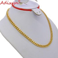 Wholesale width 7mm resale online - Adixyn Brand Classic Jewelry Chain For Men Trendy mm Width Gold Color choker Necklace Hip Hop Style Party Gift N05074