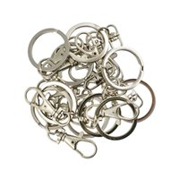 Wholesale lobster clasp silver swivel for sale - Group buy 10 Pieces Silver Plated Trigger Swivel Lobster Clasp Clips Key Hook Keychain Split Key Ring Findings Clasps For Keychains Making Craft