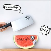Wholesale watermelon iphone case online – custom Creative and interesting watermelon kitchen knife mobile phone case For iphone Pro max x xs max xr plus phone case