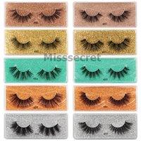 Wholesale natural messy eyelashes resale online - New Eyelash Faux D Mink Eyelashes Messy Fake d Mink Lashes Natural Soft False Eyelashes Makeup Fluffy Fake EyeLashes Faux Cils