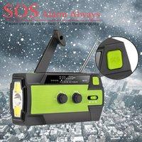 Wholesale portable charging pack online – Hot Sales Emergency portable Radio Digital Display Dynamo Crank Multifunctional Solar Lighting Phone Charging Camping Tools