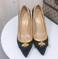 Wholesale little pump resale online - 20 high quality Wedding Shoes Bride Women Little bee high heeled shoes Shoes Pointed Toe High Heels cm CM