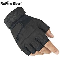 Wholesale military gloves man for sale - Group buy ReFire Gear SWAT Half Finger Army Gloves Men US Military Soldier Combat Tactical Gloves Anti Skid Fight Shoot Fingerless Gloves