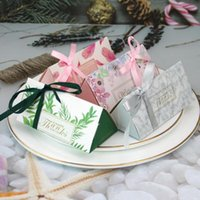 Discount paperboard box wholesale 10 50 100pcs Paperboard Candy Box Favor And Gift Boxes With Ribbon DIY For Guest Birthday Christmas Party Wedding Decoration