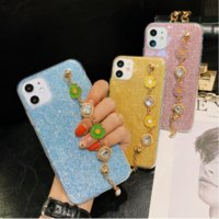 Wholesale iphone cases chains online – custom EKONEDA Wrist Strap Chain Case For iPhone S Plus Pro XS Max XR X SE Case Luxury Glitter Soft TPU Back Cover