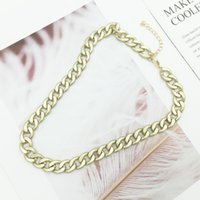Wholesale mens chunky chain necklace for sale - Group buy Miami Cuban Chains Necklace For Women Mens Vintage Gold Color Thick Stainless Steel Chunky Necklace Punk Jewelry Mrs Win bbyCzW bde_home