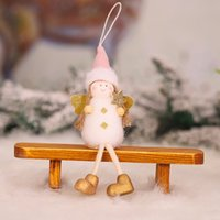 Wholesale crown ornaments christmas for sale - Group buy Gold crown ornament lovely Plush girl Angel Christmas Tree children pendantAccessory pendantdoll gift Gold crown ornament lovely Plush girl