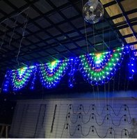 Wholesale peacock christmas tree resale online - Christmas Led String Peacock Light Fishing Net Lamp Day Garden Outdoor Waterproof Stars Decoration Color Lamps
