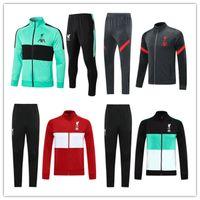 Wholesale grey jogging suit for sale - Group buy 20 men soccer jacket set tracksuit Survetement Chandal del Men s long sleeve zipper jacket football training suit jogging