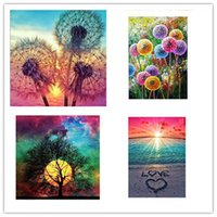 Wholesale cartoon canvas wall decor for sale - Group buy 5D Diamond Painting Full Drill Crystal Rhinestone Embroidery Cross Stitch Arts Craft Landscape Wall Decor AHE1227