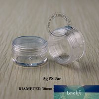 Wholesale empty nail glitter containers resale online - 5g Clear Small Plastic Sample Containers Mini Jar With Lid Empty Cosmetic Packaging Pot Box For Nail Polish Powder Glitter Art